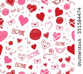 love valentine's day seamless... | Shutterstock .eps vector #351584474