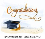 mortar with congratulations... | Shutterstock .eps vector #351585740