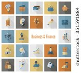 business and finance  flat icon ... | Shutterstock . vector #351591884