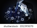 chest view of businessman... | Shutterstock . vector #351595070