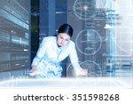 medicine doctor working with... | Shutterstock . vector #351598268