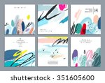 set of artistic creative... | Shutterstock .eps vector #351605600