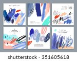 set of artistic creative... | Shutterstock .eps vector #351605618