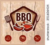 fast food and bbq grill... | Shutterstock .eps vector #351606434