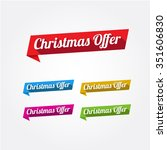 christmas offer long shadow... | Shutterstock .eps vector #351606830