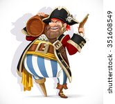 old pirate with a wooden leg... | Shutterstock .eps vector #351608549