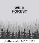 wild forests natural background | Shutterstock .eps vector #351615116