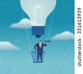 strong idea. concept... | Shutterstock . vector #351615959