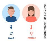 set of male and female vector... | Shutterstock .eps vector #351617390