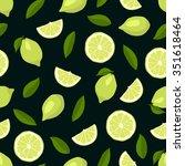 Cute Limes Seamless Pattern....