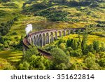 glenfinnan railway viaduct in... | Shutterstock . vector #351622814