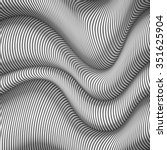 black and white wavy stripes...   Shutterstock . vector #351625904