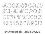 decorative vector alphabet and... | Shutterstock .eps vector #351629228