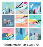 set of artistic creative... | Shutterstock .eps vector #351631370