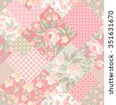 seamless floral patchwork... | Shutterstock .eps vector #351631670