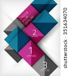 paper style design templates ... | Shutterstock .eps vector #351634070