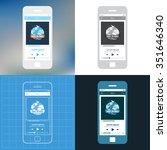 wireframe mobile ui kit music...