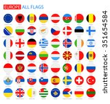 flat round flags of europe