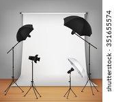 photo studio design concept set ... | Shutterstock .eps vector #351655574