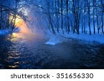 Mountain River In Winter Morming