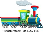 Colorful Cartoon Stem Train...