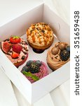 set of different cupcakes... | Shutterstock . vector #351659438
