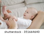 beautiful mother portrait... | Shutterstock . vector #351664640