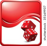 red dice on modern style wave...   Shutterstock .eps vector #35169937