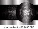 dark black silver light... | Shutterstock .eps vector #351699686