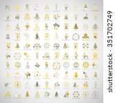 christmas icons and elements... | Shutterstock .eps vector #351702749