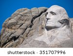 George Washington on Mount Rushmore National Monument, South Dakota, USA.