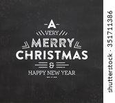 christmas typographic... | Shutterstock .eps vector #351711386