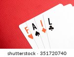 "Playing Cards With ""fail"" Text"