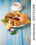 coriander   kothimbir vada ... | Shutterstock . vector #351721298