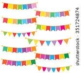 bunting banner vector... | Shutterstock .eps vector #351724874
