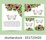 wedding invitation cards with... | Shutterstock . vector #351725420