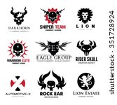 rock and skull logo collection... | Shutterstock .eps vector #351728924