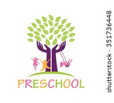 playgroup  preschool ... | Shutterstock .eps vector #351736448