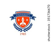 university education logo... | Shutterstock .eps vector #351736670