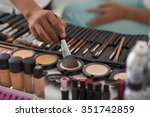 make up artist using natural... | Shutterstock . vector #351742859