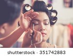 male stylist creating  perfect... | Shutterstock . vector #351742883