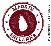 vintage made in sri lanka stamp.... | Shutterstock .eps vector #351743873