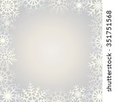 background with snowflake... | Shutterstock .eps vector #351751568