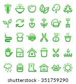 farming and garden icon set ... | Shutterstock . vector #351759290