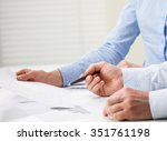 business people discussing... | Shutterstock . vector #351761198