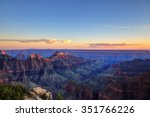 Grand Canyon National Park at sunset - stock photo