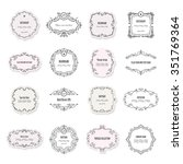 vintage frames and labels big... | Shutterstock .eps vector #351769364