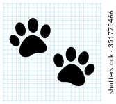 paw   black vector icon | Shutterstock .eps vector #351775466
