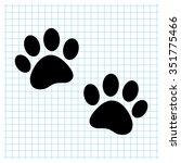 paw   black vector icon | Shutterstock .eps vector #351775466