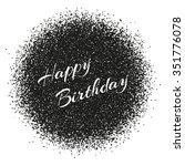 happy birthday inscription on...   Shutterstock .eps vector #351776078